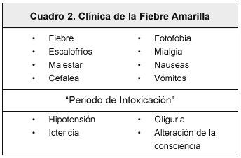 vacuna fiebre amarilla sintomas posteriores