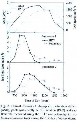 A Comparison of Sap Flow Measurements and Potometry in Two