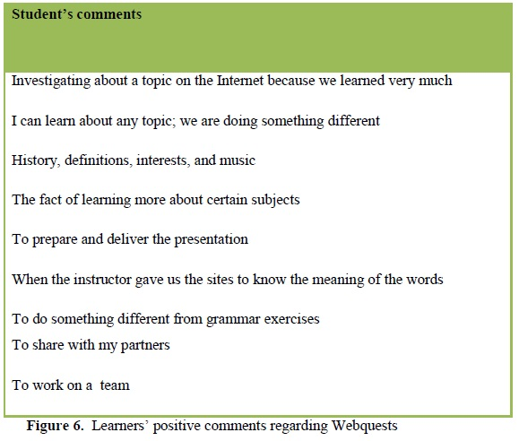 Using the webquest model as alternative assessment in the