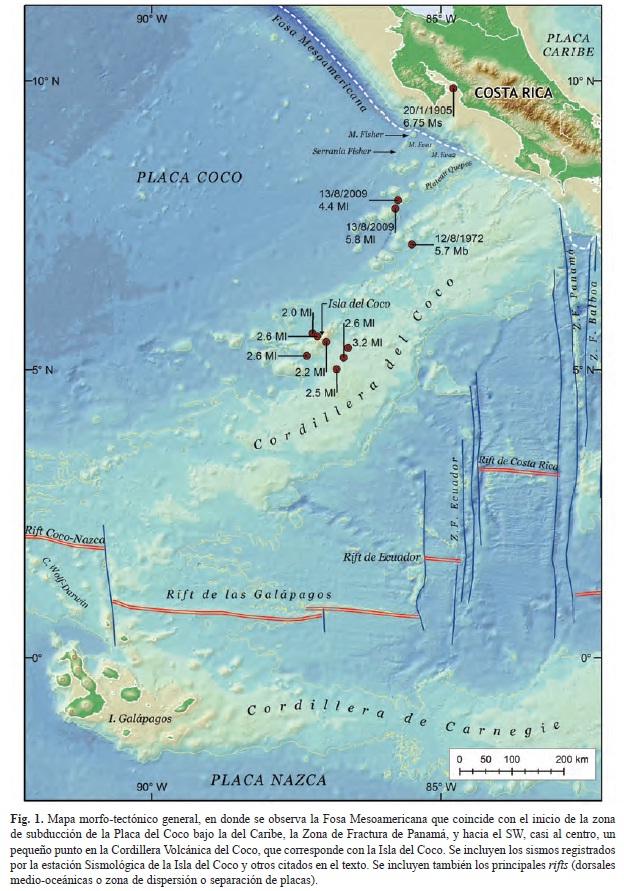 Marco Geológico Y Tectónico De La Isla Del Coco Y La Región