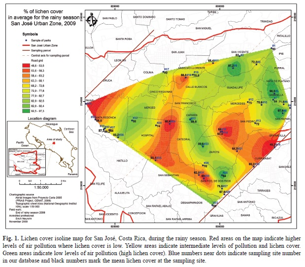 Use of a Geographic Information System and lichens to map ...